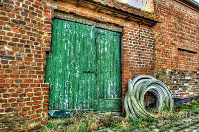 Photograph - Belgian Barn Doors by Deborah Smolinske