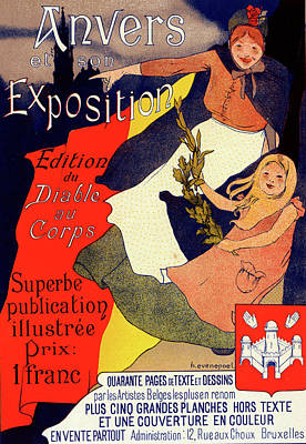 Affiche Drawing - Belgian Poster For Anvers Et Son Exposition by Liszt Collection