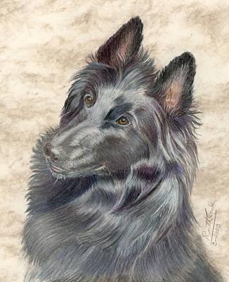 Belgian Sheepdog Art Print by Ruth Seal