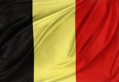 Waving Flag Photograph - Belgium Flag by Les Cunliffe