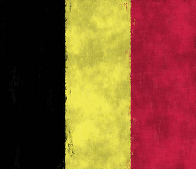 Belgium Flag Art Print by World Art Prints And Designs