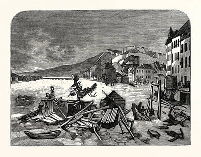 Belgium Drawing - Belgium The Recent Inundation At Namur And Liege by Belgian School