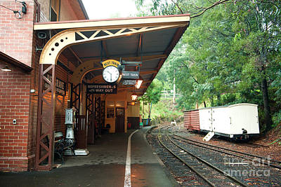 Photograph - Belgrave Train Station by Yew Kwang