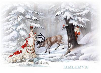 Digital Art - Believe by Cindy Garber Iverson