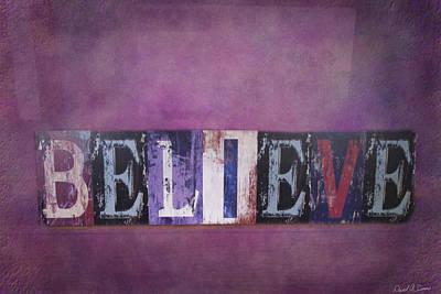 Believe Art Print by David Simons