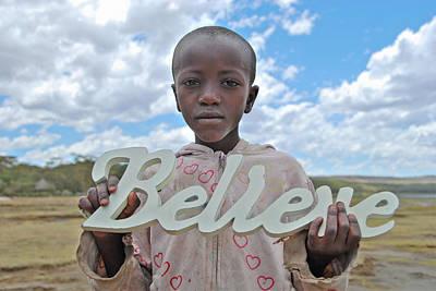 Believe In Africa Art Print by Mesha Zelkovich