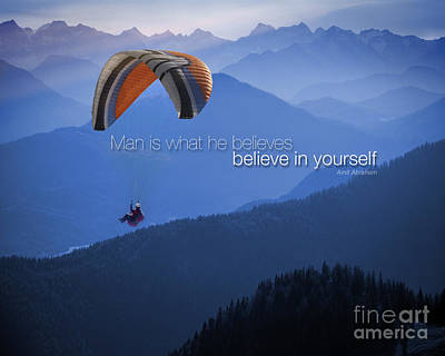 Photograph - Believe In Yourself by Edmund Nagele