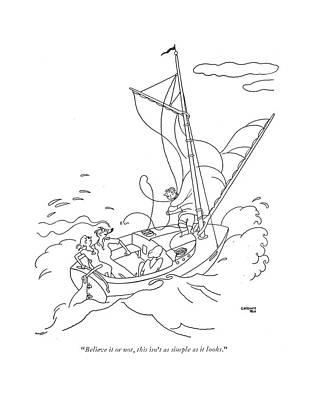 Wrap Drawing - Believe It Or by Gardner Rea