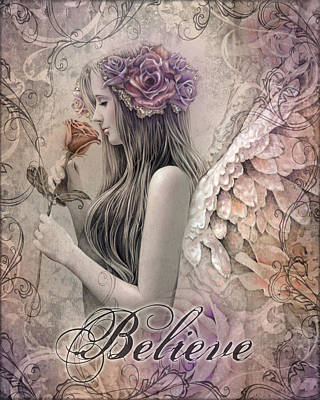 Angel Art Mixed Media - Believe by Jessica Galbreth