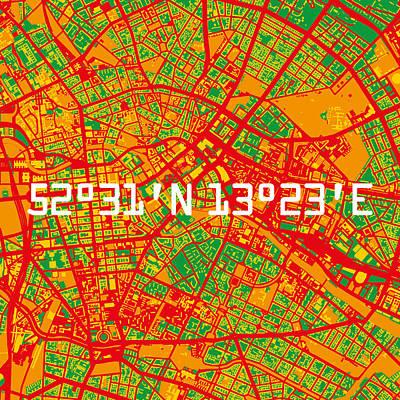Berlin Map Art Print by Big City Artwork