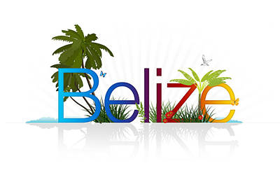 Vacation Drawing - Belize by Aged Pixel