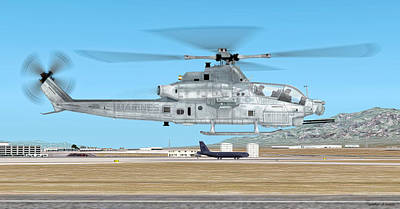 Digital Art - Bell Ah-1z Viper by Walter Colvin