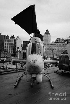 Bell Ah1j Ah 1j Sea Cobra On Display On The Flight Deck Of The Uss Intrepid Art Print