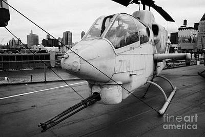 Bell Ah1j Ah 1j Sea Cobra On Display On The Flight Deck Of The Uss Intrepid New York Art Print by Joe Fox