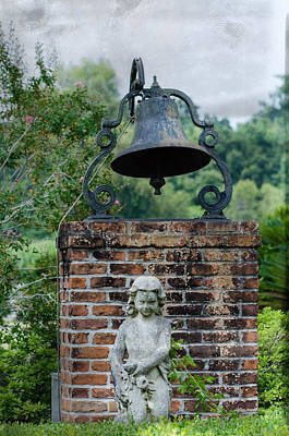 Photograph - Bell Brick And Statue by Jim Shackett