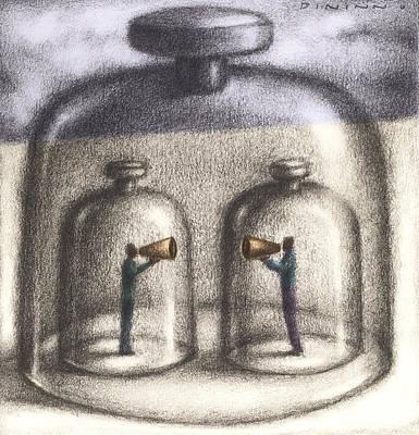 Glass Wall Digital Art - Bell Jars by Steve Dininno