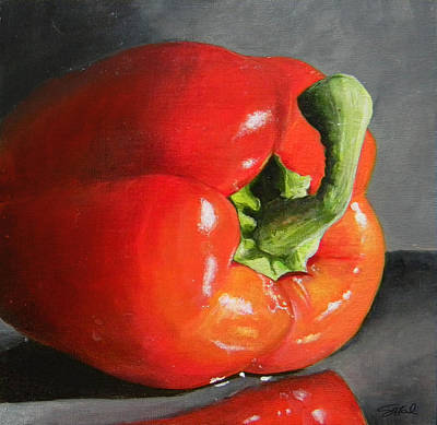 Pepper Painting - Bell Pepper Mini by Steve Goad