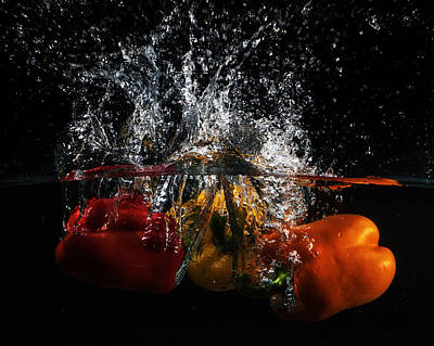 Photograph - Bell Pepper Splash by Angie Vogel