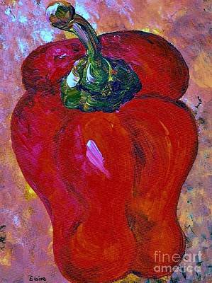 Western Art Painting - Bell Pepper - Take Center Stage by Eloise Schneider