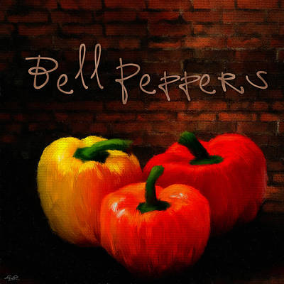 Garlic Digital Art - Bell Peppers II by Lourry Legarde