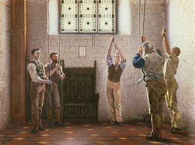 Church Bells Painting - Bell Ringers by Henry Ryland