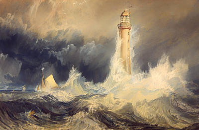 Historic Lighthouses Painting - Bell Rock Lighthouse by Mountain Dreams