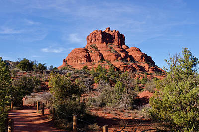 Sedona Photograph - Bell Rock South Of Sedona Az by Jan and Stoney Edwards