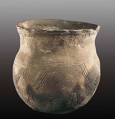 Ceramics Photograph - Bell-shaped Vase. 2200 Bc. Neolithic by Everett