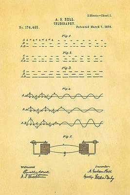 Bell Telephone Patent Art 1876 Art Print