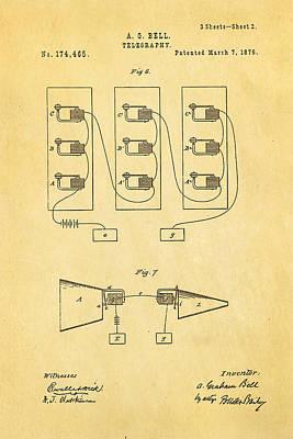 Bell Telephone Patent Art 2 1876 Art Print