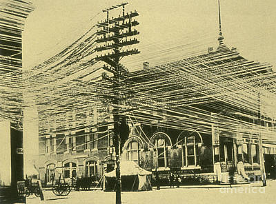 Photograph - Bell Telephone System Wires 1900 by Science Source