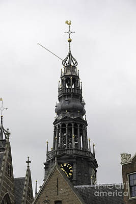 Tlk Designs Photograph - Bell Tower At Oude Kerk Amsterdam by Teresa Mucha