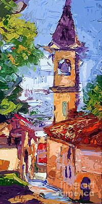 Painting - Bell Tower In Italy by Ginette Callaway
