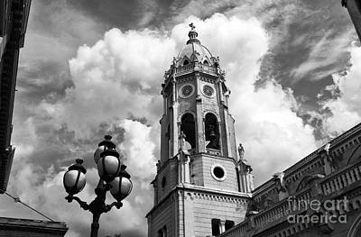 Photograph - Bell Tower Of St. Francis Mono by John Rizzuto