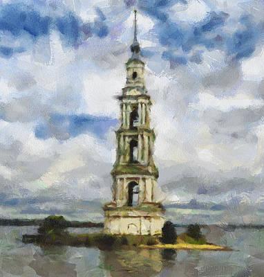 Siberia Digital Art - Bell Tower On Island by Yury Malkov