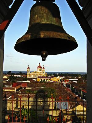 Church Photograph - Bell Tower View Granada Nicaragua by Kurt Van Wagner