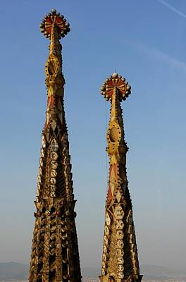 Photograph - Bell Towers With Venetian Mosaics - Sagrada Familia by Jacqueline M Lewis