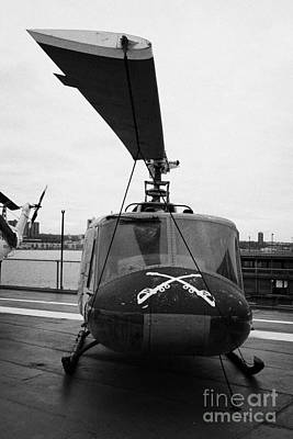 Bell Uh 1a Uh1 1 Huey On Display On The Flight Deck At The Intrepid Sea Air Space Museum Art Print by Joe Fox