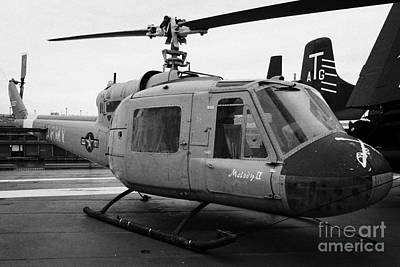 Bell Uh 1a Uh1 Uh1a 1 Huey On Display On The Flight Deck At The Intrepid Sea Air Space Museum Art Print by Joe Fox
