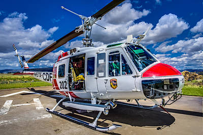 Wildfire Photograph - Bell Uh-1super Huey Close-up by Scott McGuire
