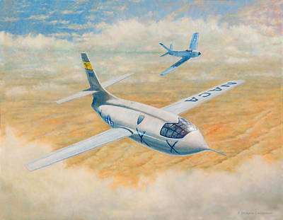 Painting - Bell X-1  by Douglas Castleman