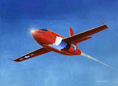 Painting - Bell X-1 Mach One Buster by Douglas Castleman