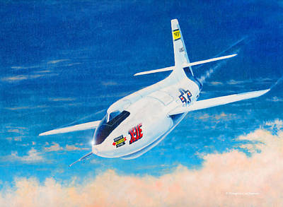 Painting - Bell X-1e by Douglas Castleman