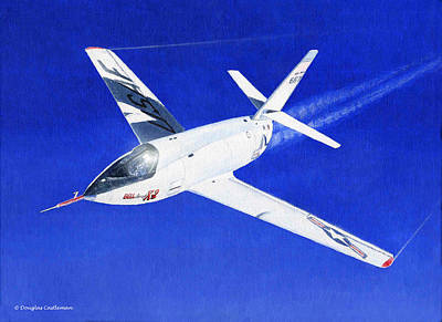 Painting - Bell X-2 by Douglas Castleman
