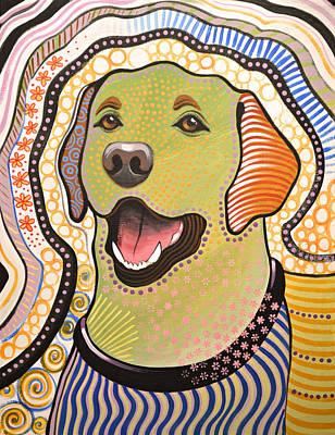 Bella ... Abstract Dog Art ... Yellow Labrador Original