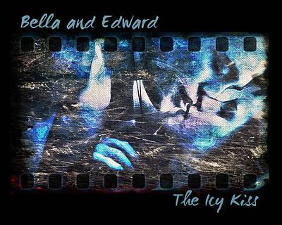 True Cross Digital Art - Bella And Edward - The Icy Kiss by Absinthe Art By Michelle LeAnn Scott