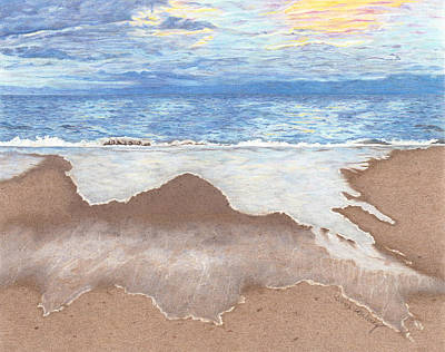 Beach Landscape Drawing - Bella Beach by Diana Hrabosky