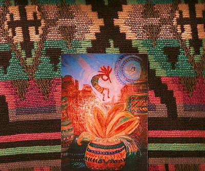 Fabric Mixed Media - Bella Bonita Fantastiche Southwestern Theme by Anne-Elizabeth Whiteway