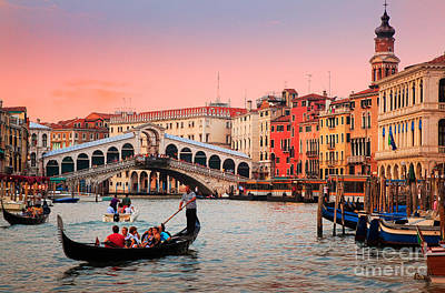 La Bella Canal Grande Art Print by Inge Johnsson