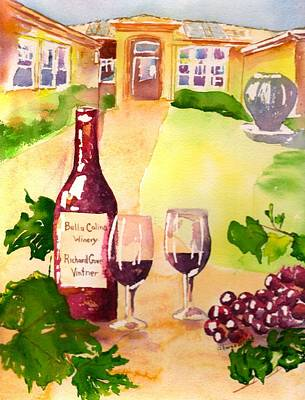 Painting - Bella Colina Winery by Sharon Mick